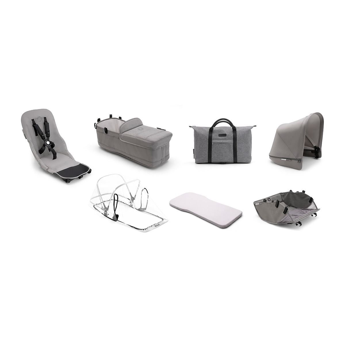 BUGABOO Donkey2 style set complete Mineral Light Grey
