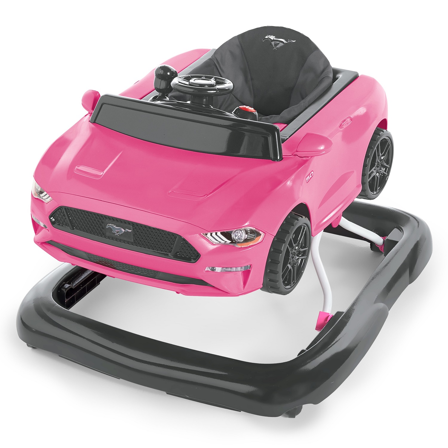 BRIGHT STARTS Chodítko 3v1 Ford Mustang Pink 6 m do 11 kg