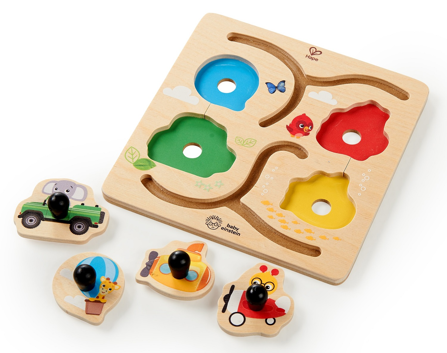 BABY EINSTEIN Dřevěné puzzle Paths to Adventure HAPE 12m