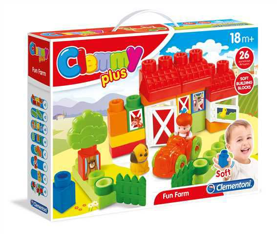 CLEMENTONI Clemmy plus - Farma (26 kostek)