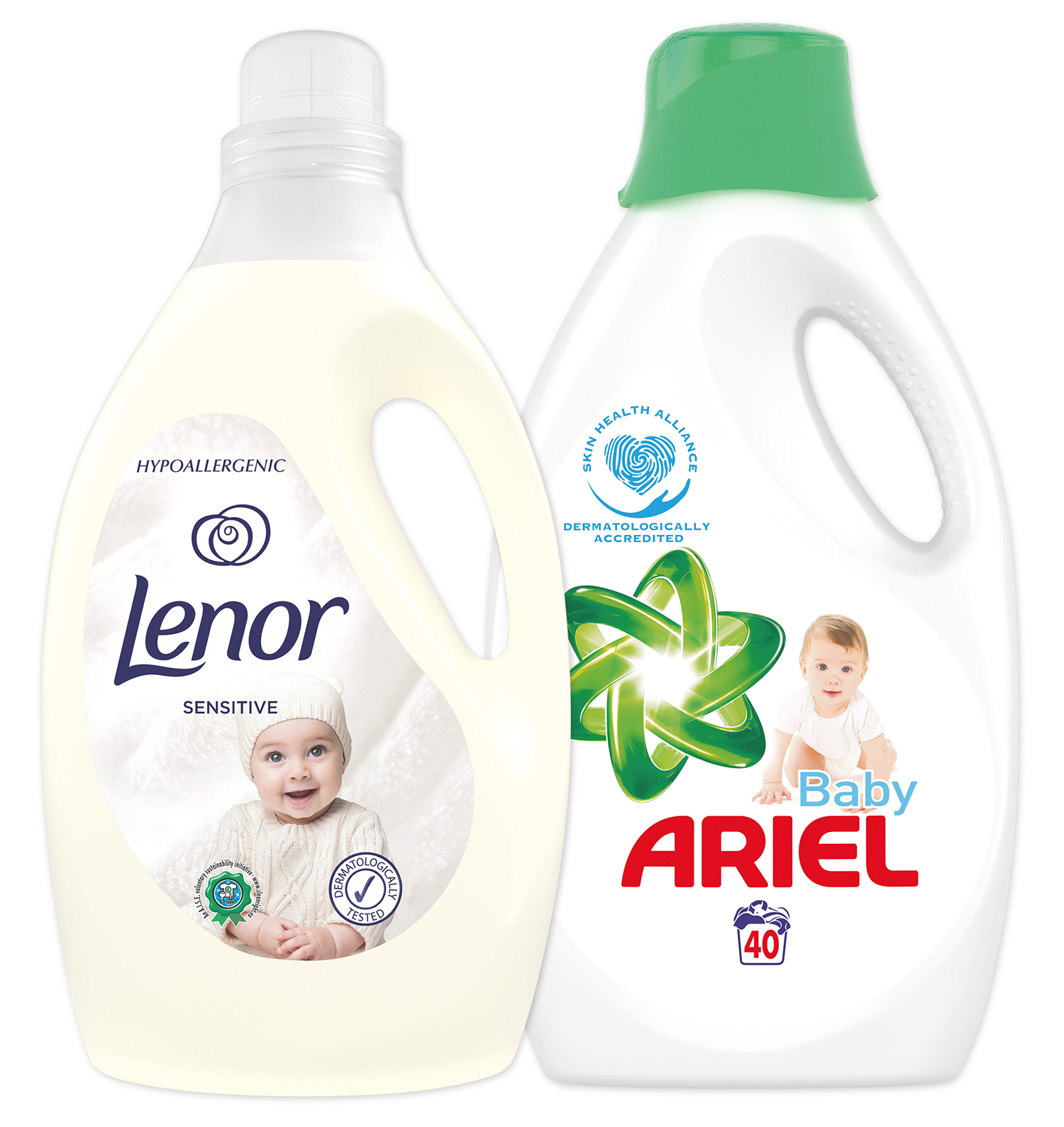 LENOR Starter pack Ariel gel 40 dávek  Lenor aviváž Sensitive 2.9l