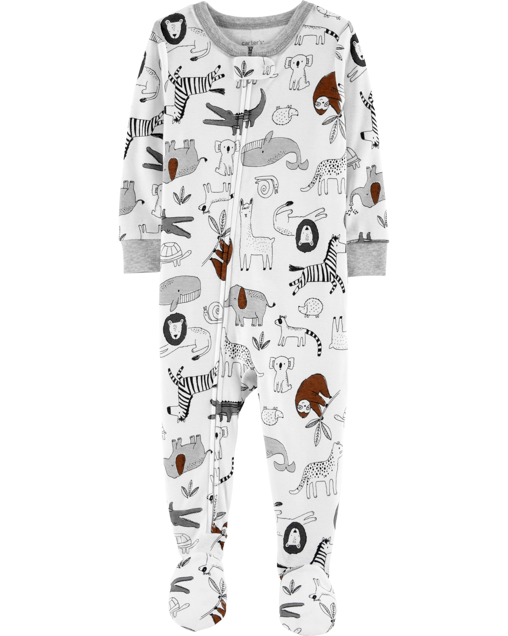 CARTERS Overal zip Animals chlapec 12m vel. 80