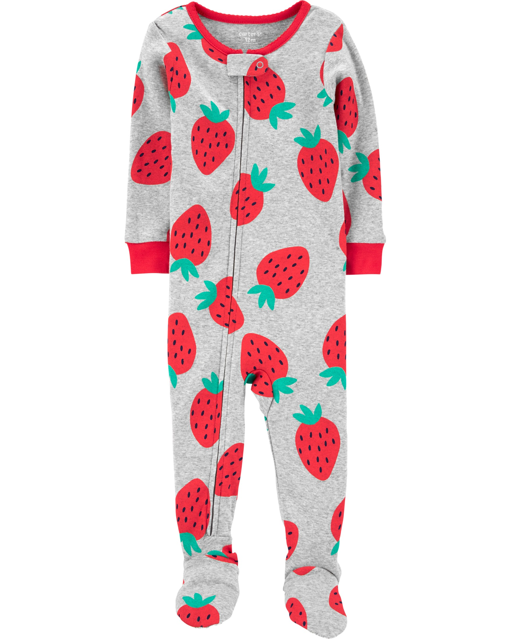 CARTERS Overal zip Strawberry dívka 12m vel. 80