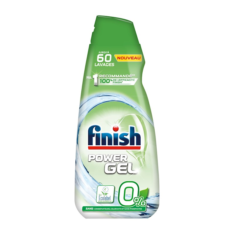 FINISH 0  percent gel do myčky nádobí 900 ml