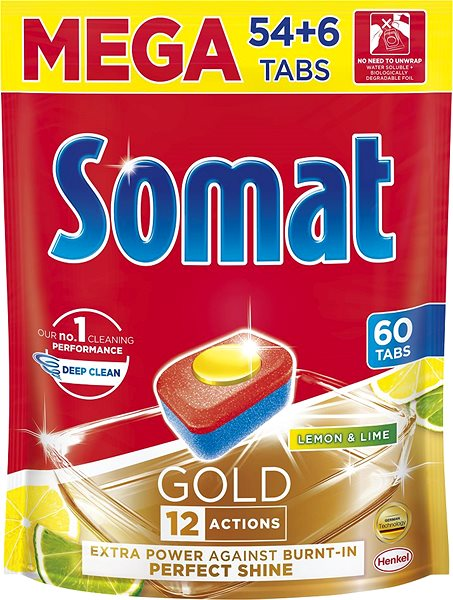 SOMAT Gold Lime  Lemon 60 ks - tablety do myčky