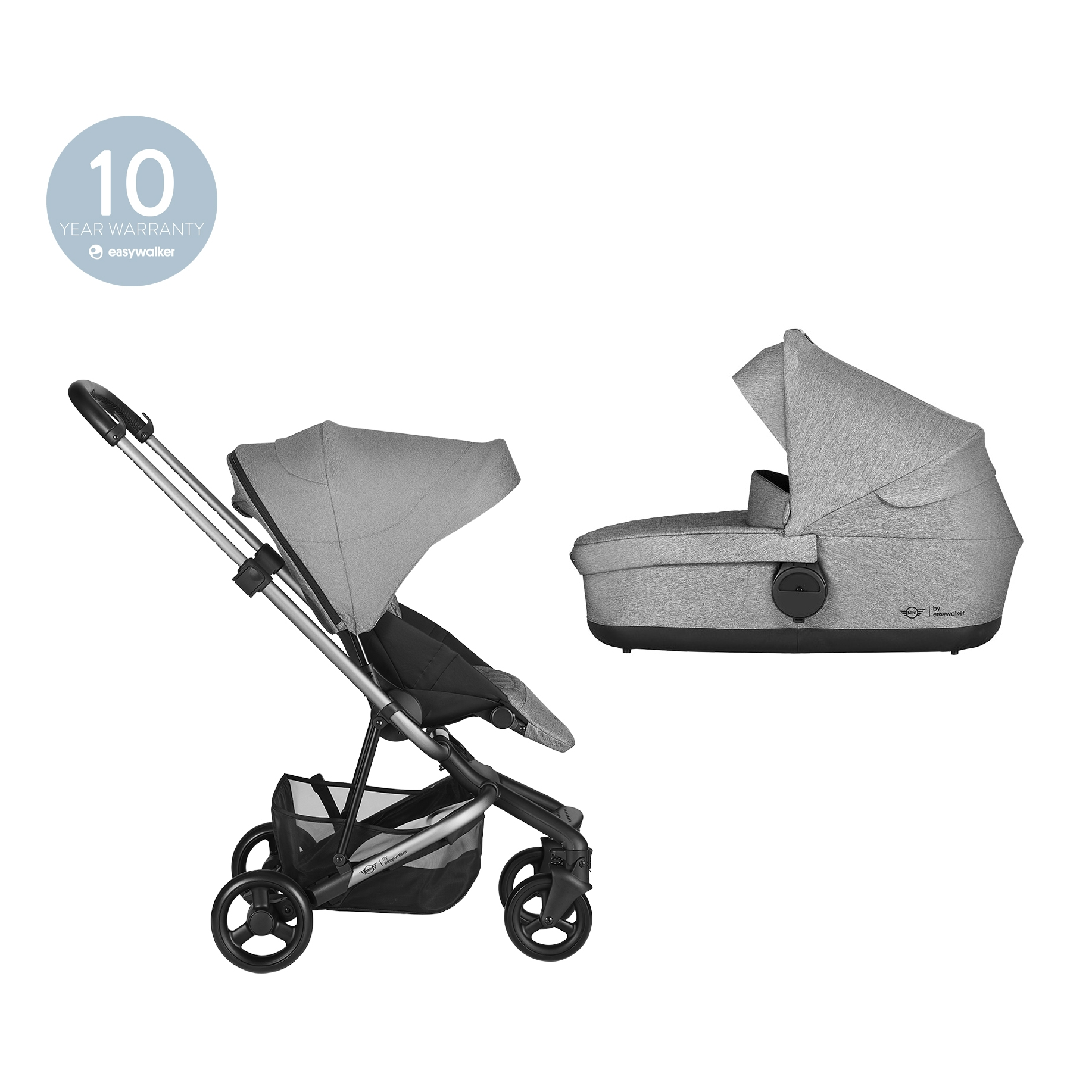 EASYWALKER Kočárek Soho Grey MINI by Easywalker - set