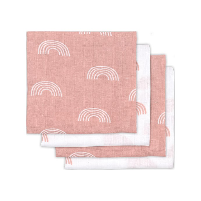 JOLLEIN Plena 70x70 cm (4 ks) Rainbow blush pink