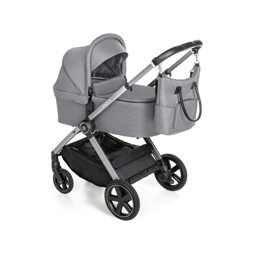 BABY DESIGN Kočárek kombinovaný Only 107 Gray Center Espiro