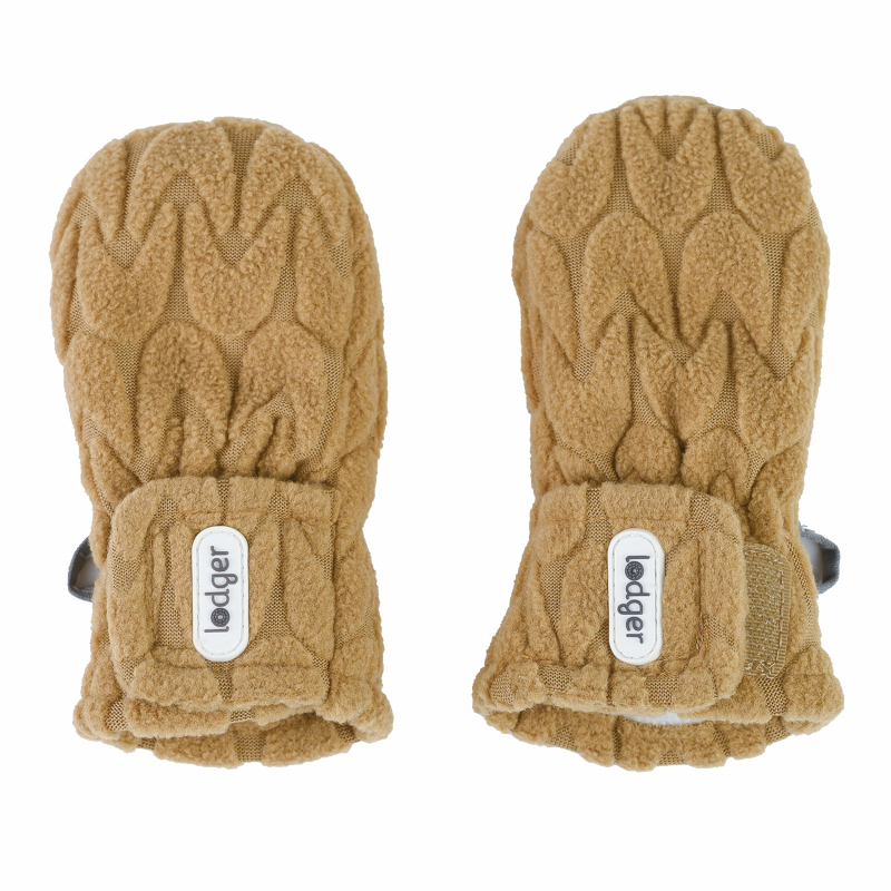 LODGER Rukavičky Mittens Empire Fleece Dark Honey 1 - 2 roky