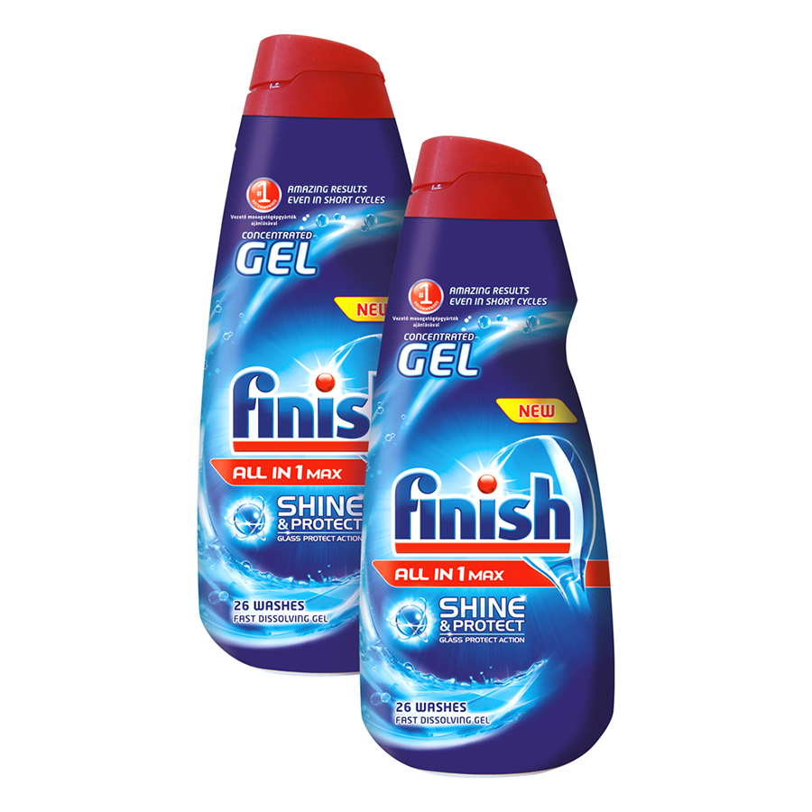 FINISH Gel All-in-1 ShineProtect 2x 650 ml (vedle sebe)