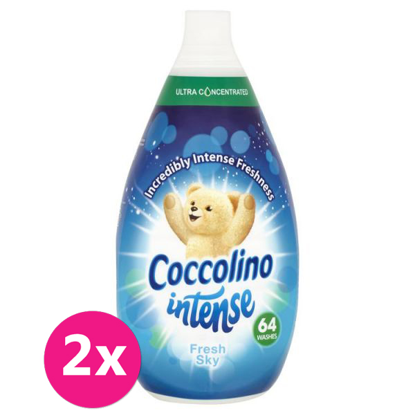 2x COCCOLINO Intense Fresh Sky aviváž 64 dávek 960 ml
