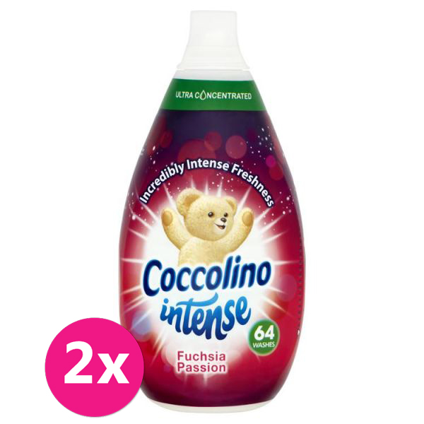 2x COCCOLINO Intense Fuchsia Passion aviváž 64 dávek 960 ml