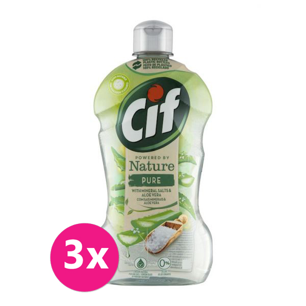 3x CIF Nature na nádobí Pure 450 ml