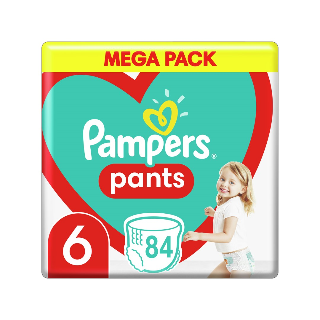 PAMPERS Pants 6 (15 kg) 84 ks Extra Large Mega box - plenkové kalhotky