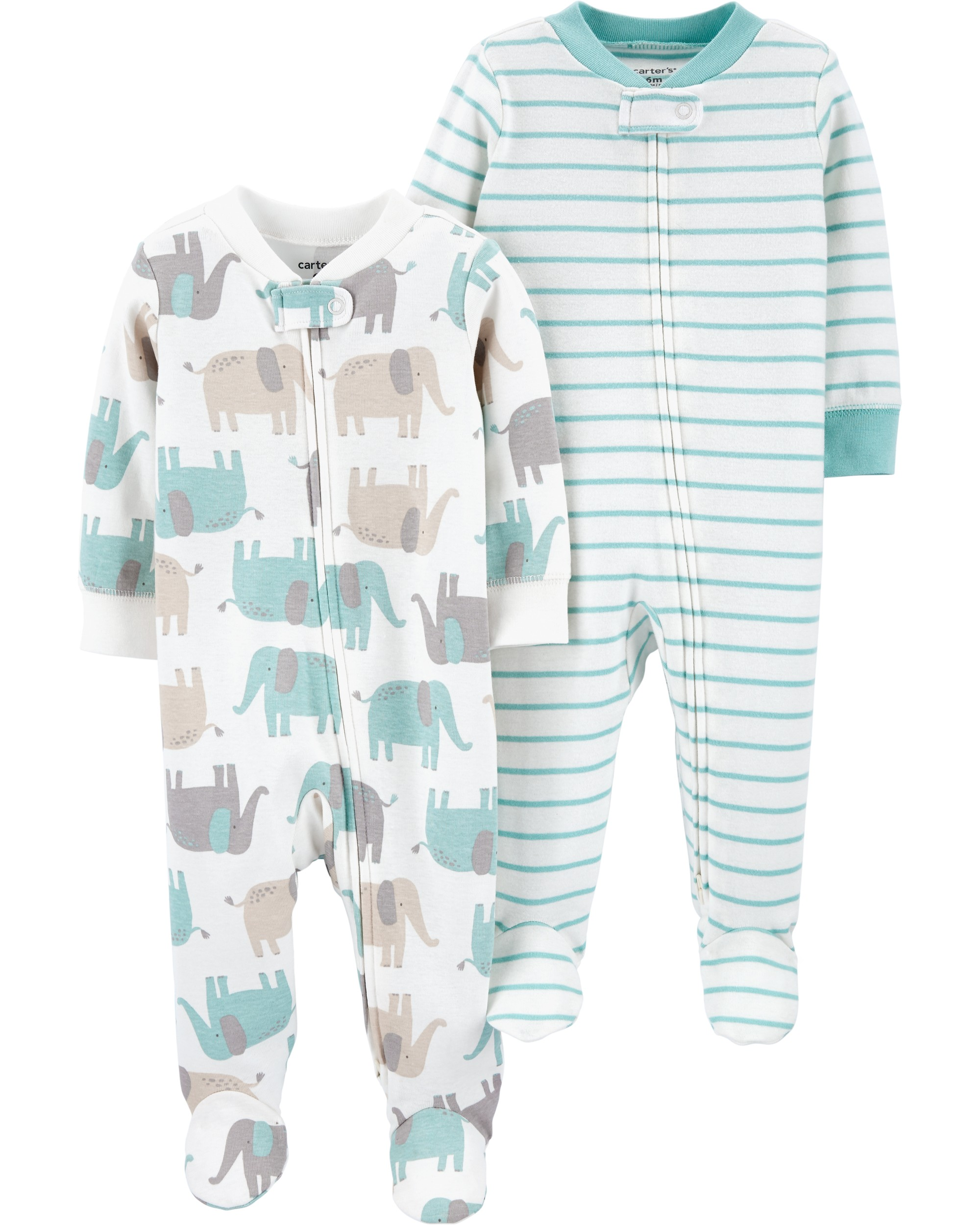 CARTERS Overal na zip SleepPlays Mix neutrál LBB 2 ks 6 m veľ. 68