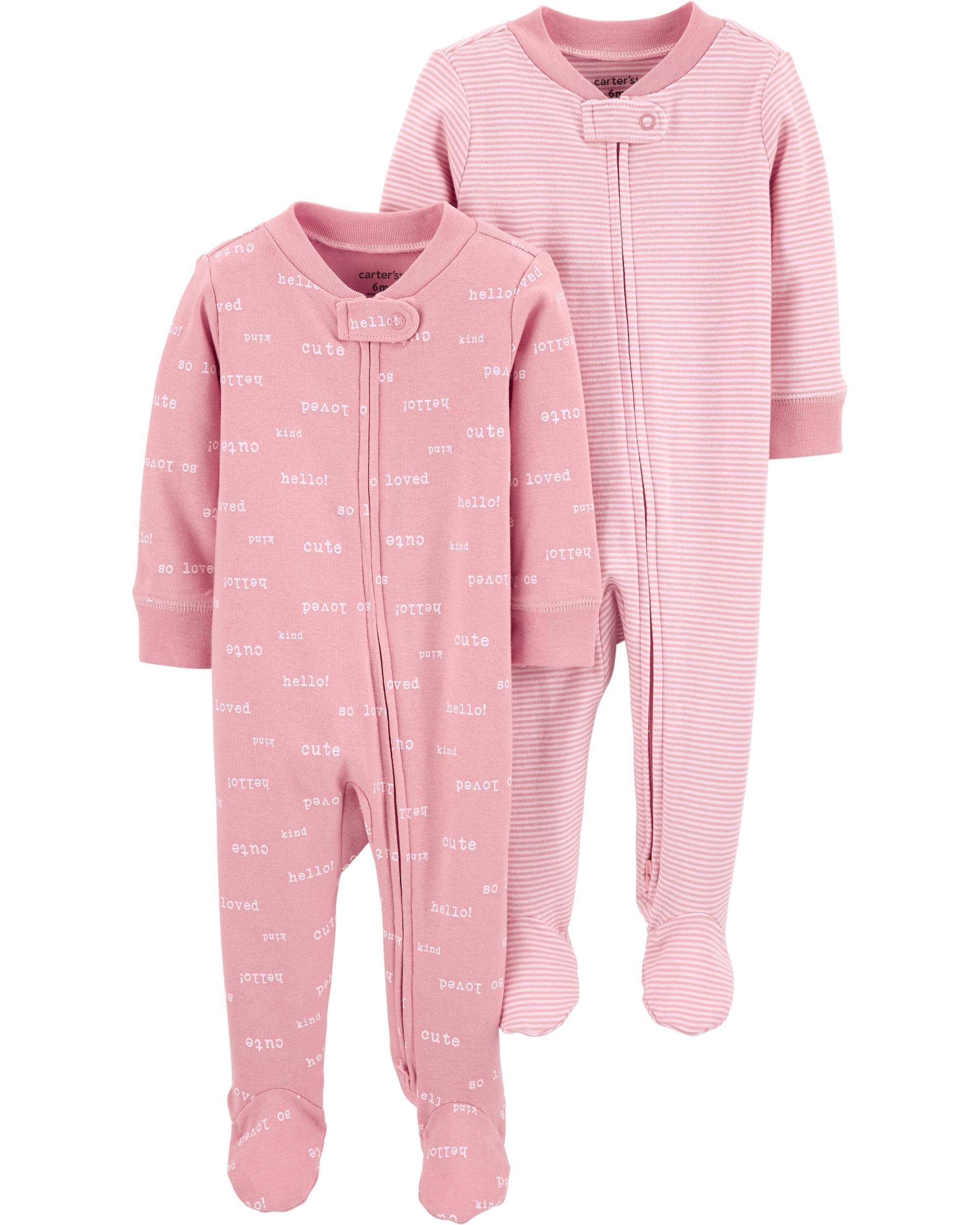 CARTERS Overal na zip SleepPlays Pink dívka LBB 2 ks NBvel. 56