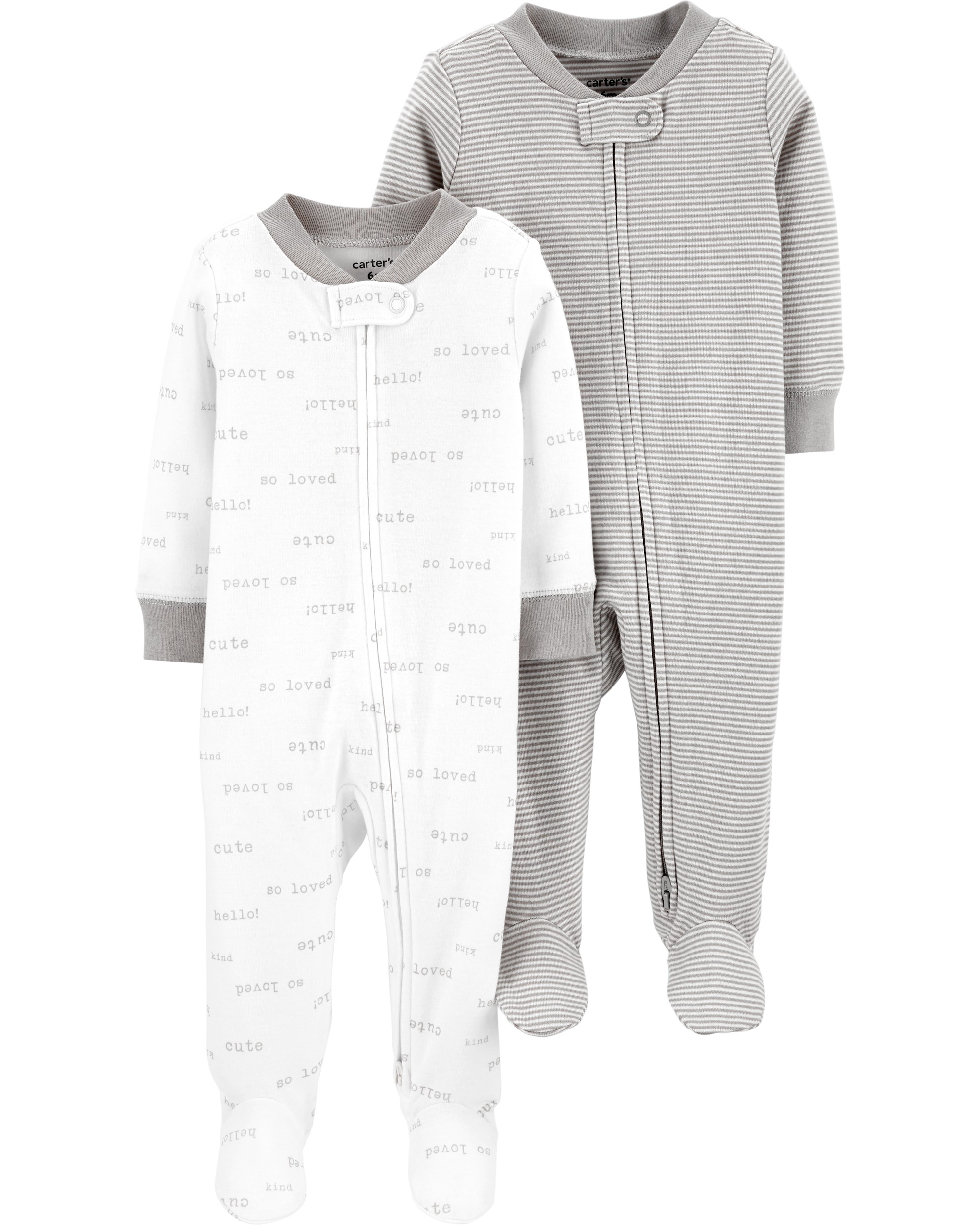 CARTERS Overal na zip SleepPlays White neutral LBB 2 ks 3 mvel. 62