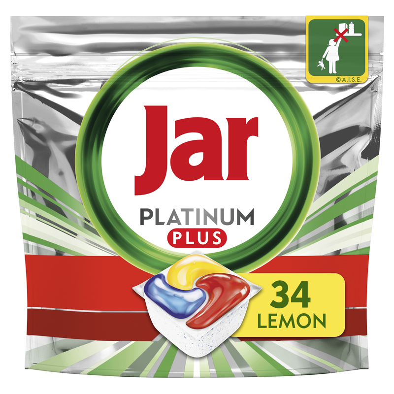 JAR Platinum Plus Quickwash tablety do umývačky 34 ks