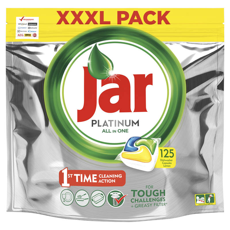 JAR Tablety do myčky Platinum 125 ks XXL
