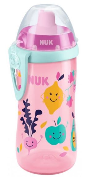 NUK First Choice Fľaša PP Flexi Cup 300 ml, flexi náustok (24+ m) – dievča